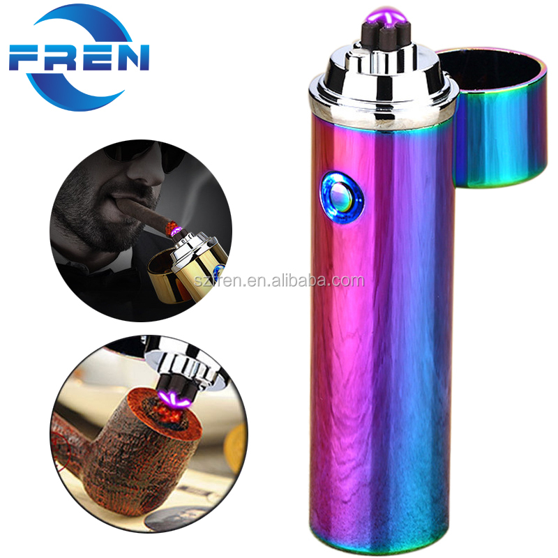 FR-P01 New Arrival Dual Arc Windproof Electric USB Lighter, Electronic Cigarette Lighter
