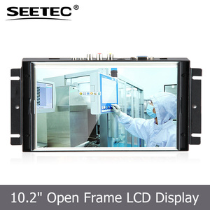Embedded lcd tft display touch screen hdmi open frame 10 monitor with VGA input LED backlight