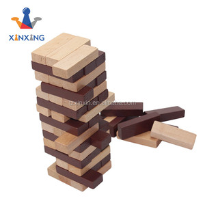Mini wooden blocks for kids stained tumbling tower