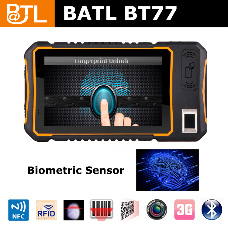 "BATL BT77 HD wide angle,visible in the sun 7"" rugged tablet with FBI fingerprint"