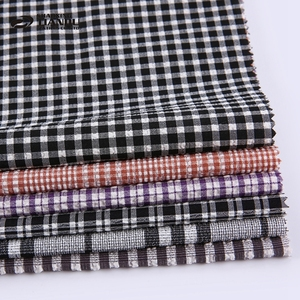 Hot sale soft hand feel woven yarn dyed african rayon stretch plaid check shirt fabric