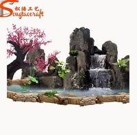 artificial fiber glass home decoration waterfall artificial rock waterfall