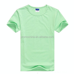 Promotional Wholesale Polyester Mint Green Plain Cotton T shirt