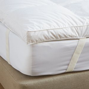 White duck feather down filling dual massage mattress topper for sale