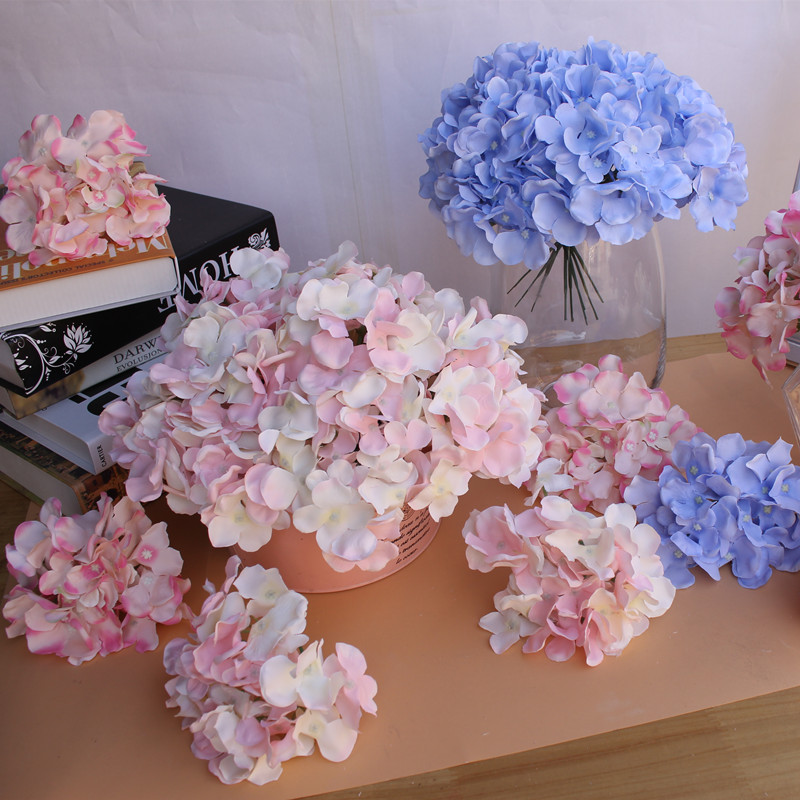 Shininglife 22colors hydrangea artificial <strong>flowers</strong> for wedding decoration