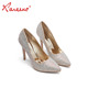 Crystal Rhinestone Silver / Gold / Champagne Color Pointed Bridesmaid Shoes Wedding 2019 ladies shoe