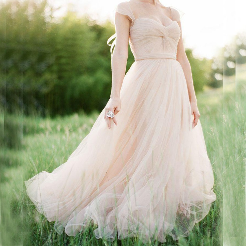 Pink Tulle Wedding Gown: Aliexpress.com : Buy Gorgeous Tulle Wedding Dress In Blush