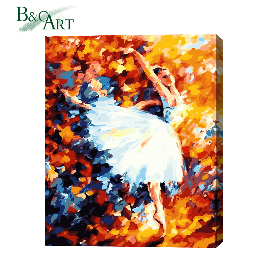 New design wall decorations handpainted ballet dancer oil paintings for living room