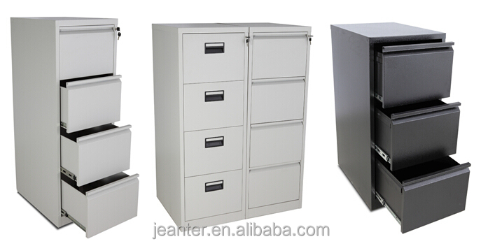 knocked down steel filing cabinet / steel storage cabinet / cabinets 4 door metal filing cabinet