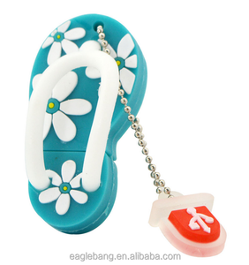 Cute Slipper Shoes plastic USB 2.0 Flash Memory Stick Drive U Disk shoes usb