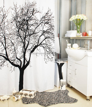 Merveilleux Bathroom Waterproof Polyester Tree Print Shower Curtain