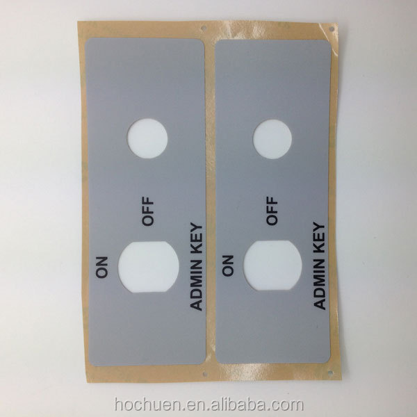Gray adhesive polyester sticker