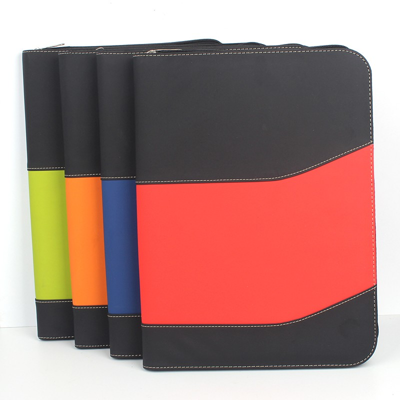High quality cheap spiral business portfolio notebooks with power bank for office supplies/popular promotional gifts