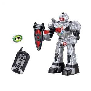 Plastic toys kids walking robot, RC fighting robot boy toys with shooting
