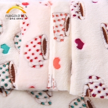 Customized design super soft jacquard baby print blanket flannel fabric wholesale