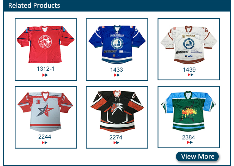 China supplier school team ice hockey jerseys