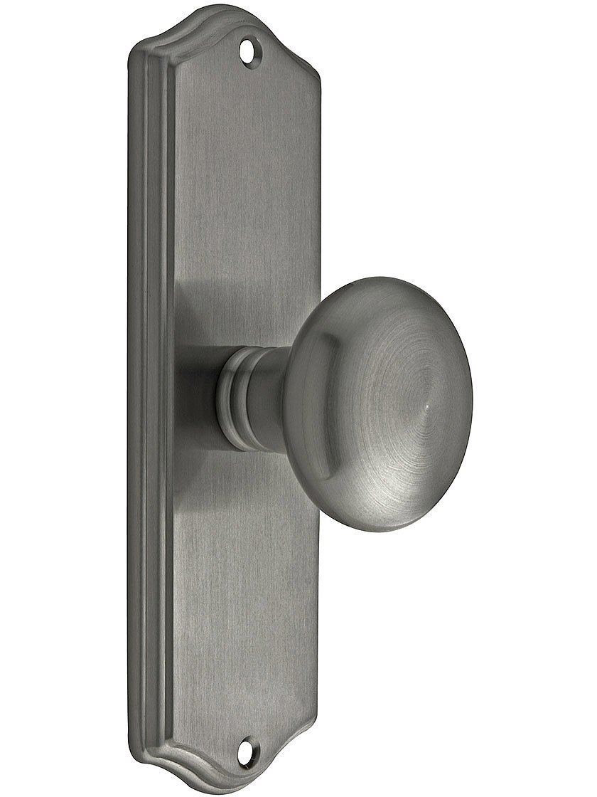 Get Quotations · Colonial Revival Door Set With Providence Knobs Privacy In Antique  Pewter. Old Door Knobs.