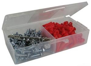 L.H. Dottie K6HX Anchor Kit, Hex/Phillips/Slotted, 10 by 1-Inch Length Screw, 22 Anchor, Red by L.H. Dottie