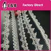 2017 fashion chemical lace white color slim trims water soluble flower trim lace
