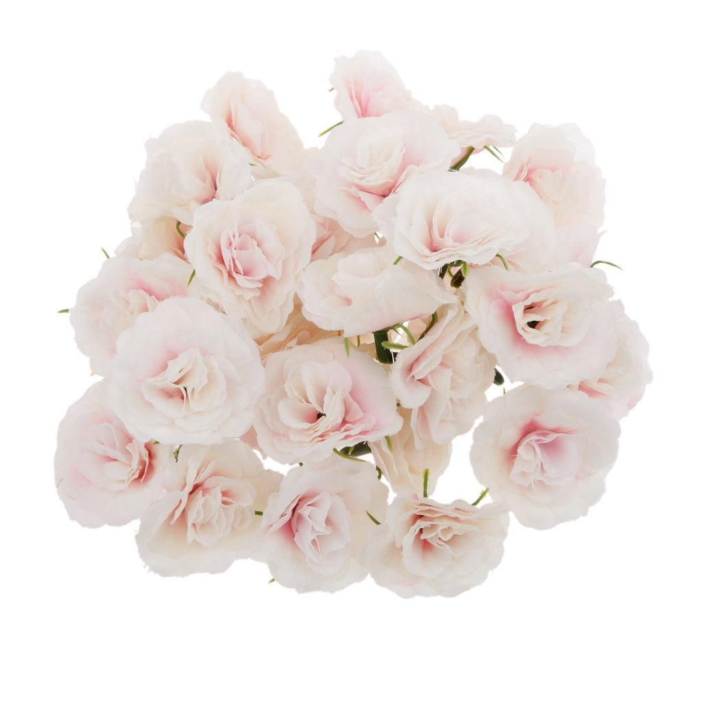 Cheap bulk silk flower heads find bulk silk flower heads deals on get quotations magideal artificial faux silk rose flower heads bulk wedding party decor pink wht pack of 50 izmirmasajfo