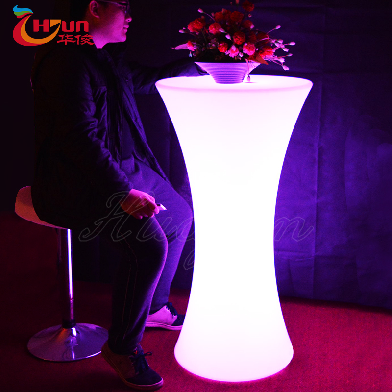 Outdoor cylinder portable illuminated light up bar table with outdoor cylinder portable illuminated light up bar table with rechargeable aloadofball Gallery