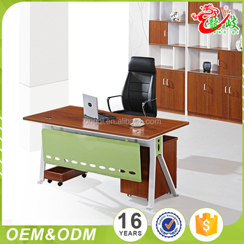 High Cost Performance Graceful Customized Executive Wooden Office Desk Latest Table Designs