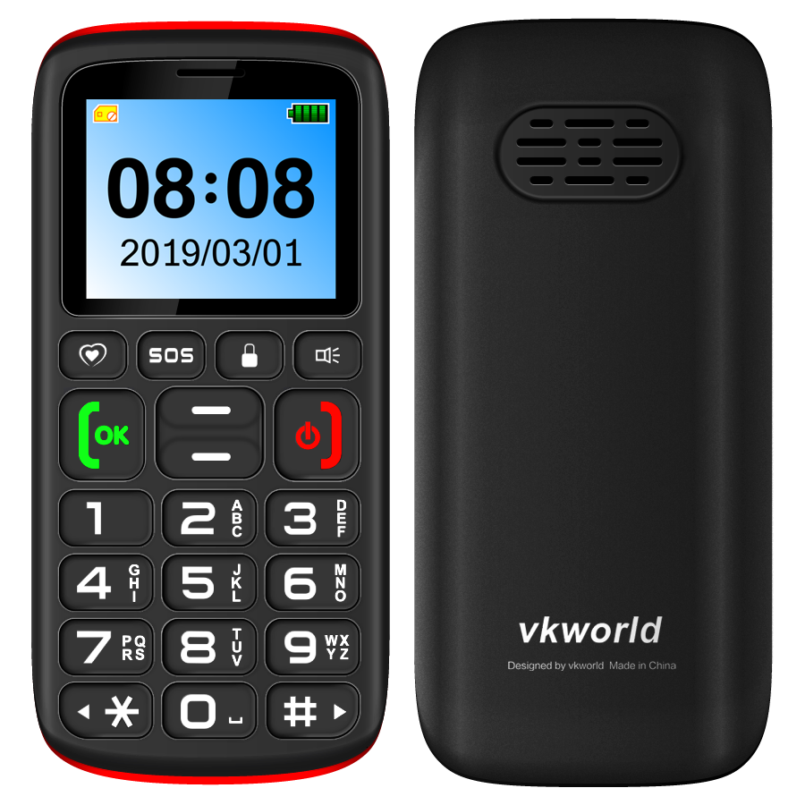 VKWORLD Z3 Feature Mobile Phone 2G GSM SOS Button Cheap no camera Old Man 1000mAh Mobile Phone