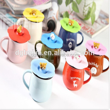 1a6f5ab344d 2015 custom logo Silicone cup coffee mug lid/silicone rubber glass cup  handle cover