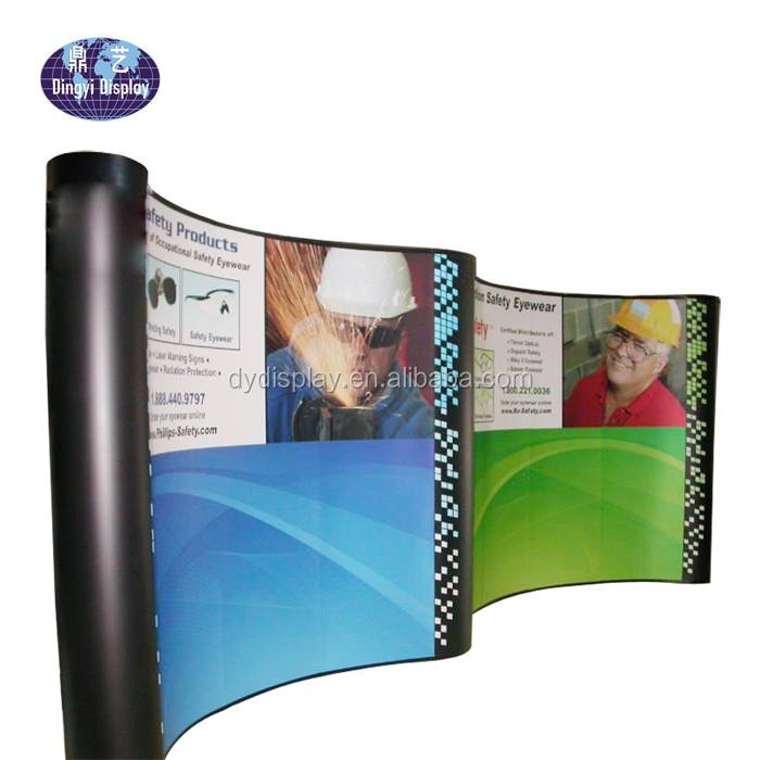 M shape Aluminum 20ft floor standing pop up display