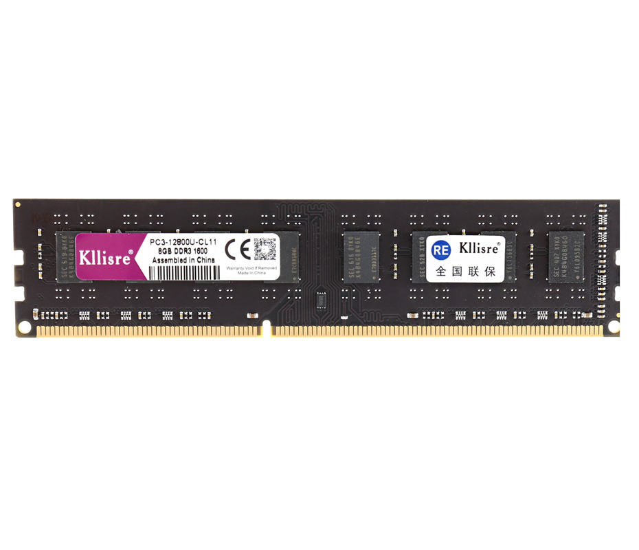 Kllisre DDR3 8GB 1600MHz 1333MHz Memory Ram For Intel AMD Desktop DIMM Desktop PC