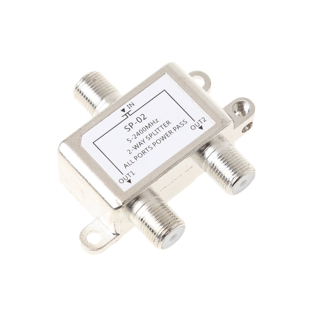 Jili Online 2 Way 5-2400MHz Splitter for Coax Cable HDTV Satellite