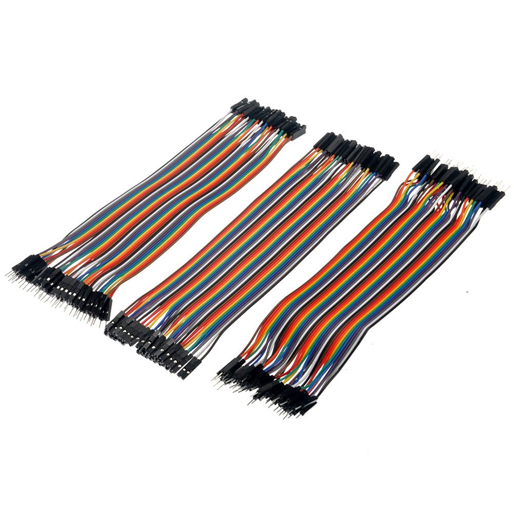 IROCH® 3pcs 20cm Multicolored 40-pin Male to Female /Male to Male /Female to Female Breadboard Jumper Wires-pack of 3pcs