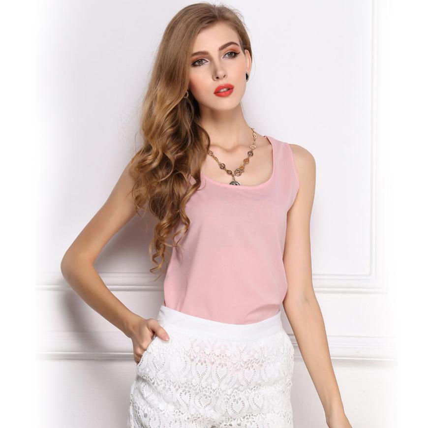 fe64cab29be62 Get Quotations · Women tank tops summer 2015 xxxl fashion ladies tank vest chiffon  o-neck Sleeveless Women