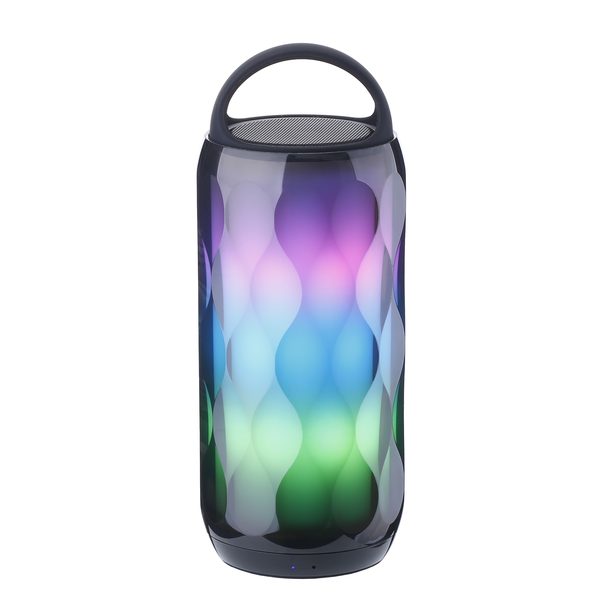 Custom OEM super bass music mini <strong>portable</strong> LED small colorful riding subwoofer wireless BT speaker