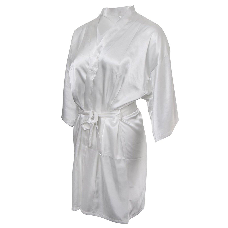 Get Quotations · MonkeyJack Hot Sale Silk Satin Wedding Rope Pajamas Woman  Bridal Gown Kimono Robe Nightwear a191219ef