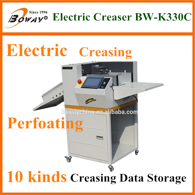 2500 Books/H BW-BM4 Automatic Saddle Flat Corner Booklet Wire Binding Stitching and Folding Booklet Maker