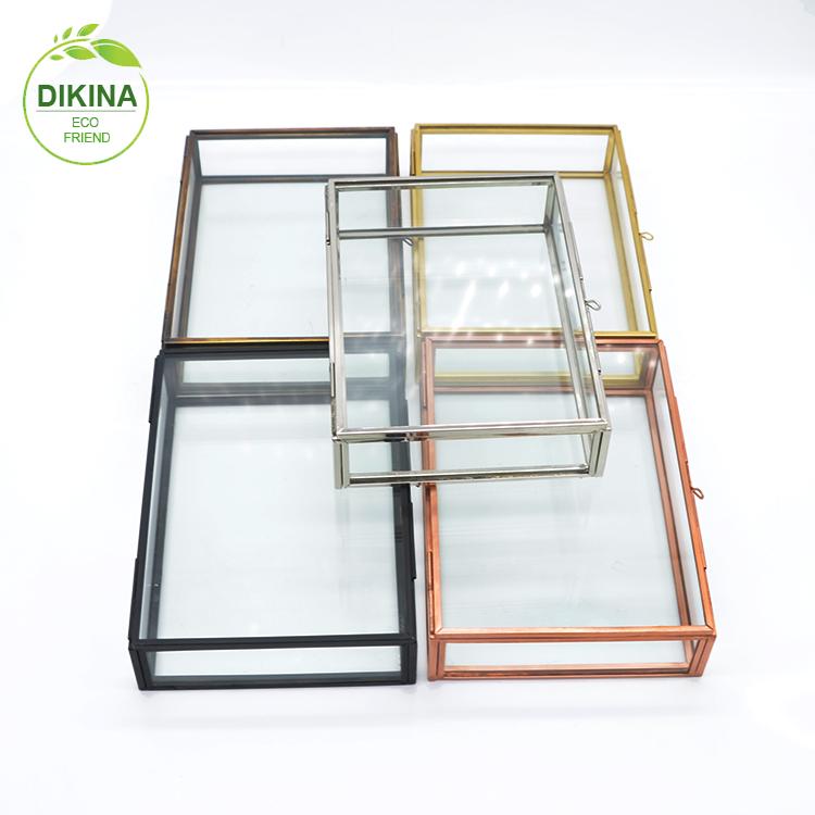 picture photo glass box 4x4 4 inch 4x6 12x12 inch 5x7 5x5 6x6 7x7 8x8 10x10 brass gold trim frames