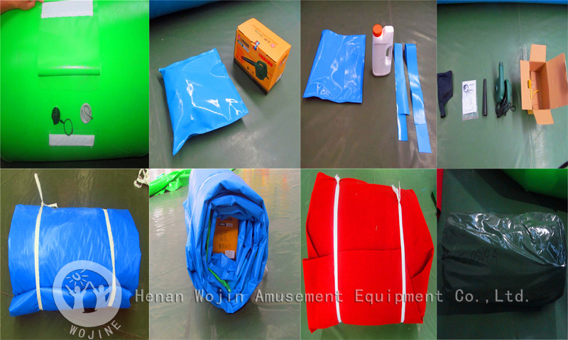 Inflatable amusement equipment packing details