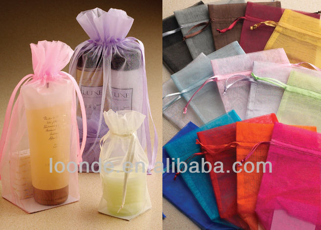 Excellent quality eco-friendly organza cosmetic bag