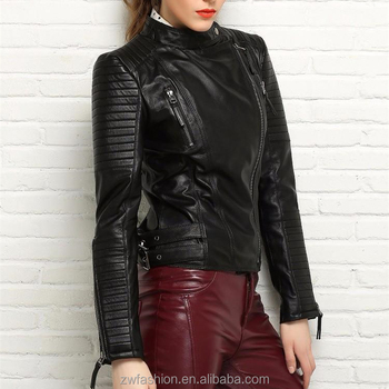 High Fashion 90s Clothing Slim Fit Punk Motorcycle Genuine Leather Jackets  Jaqueta For Women - Buy Jaqueta Women,Motorcycle Jackets Leather,90s