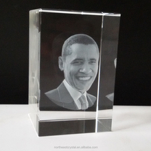 Clear Crystal Glass Gift 3D laser Crystal Cube Wholesale Personalized Picture Engraving