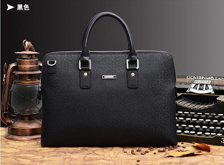 New Arrive Man Cow Leather Laptop Bag Pu Leather Zipper Bags ...