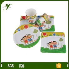 Professional party decoration dish recycle custom printed disposable paper plates