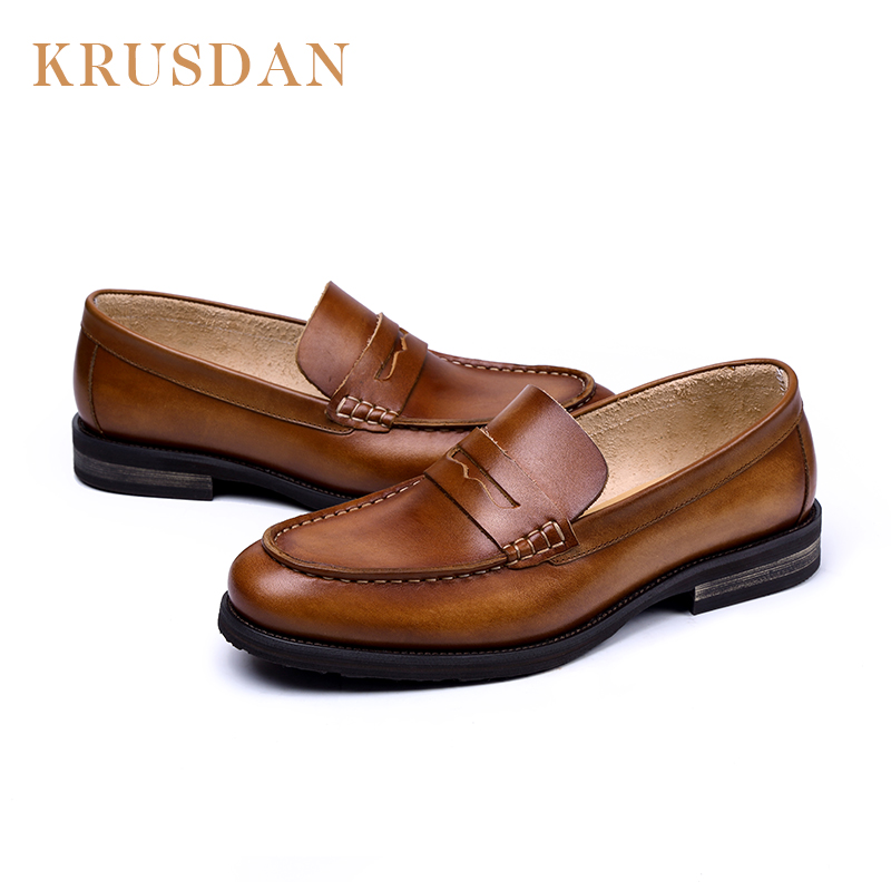 shoes on wholesale comfortable leather Fashion slip man loafer casual F8xqHy4tEw