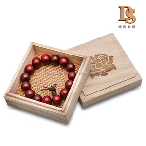 Japan Feature Cheap Wooden Bead Box Unfinished Wooden Necklace Jewelry Box with Left off Cover
