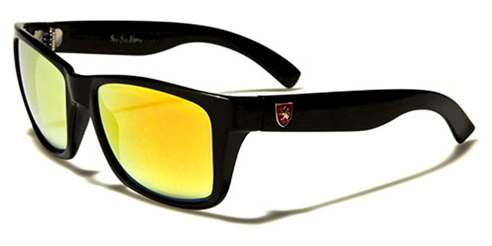 77e46ffbde9 Get Quotations · Khan Square Frame Mirror Lens Men s Retro Fashion  Sunglasses