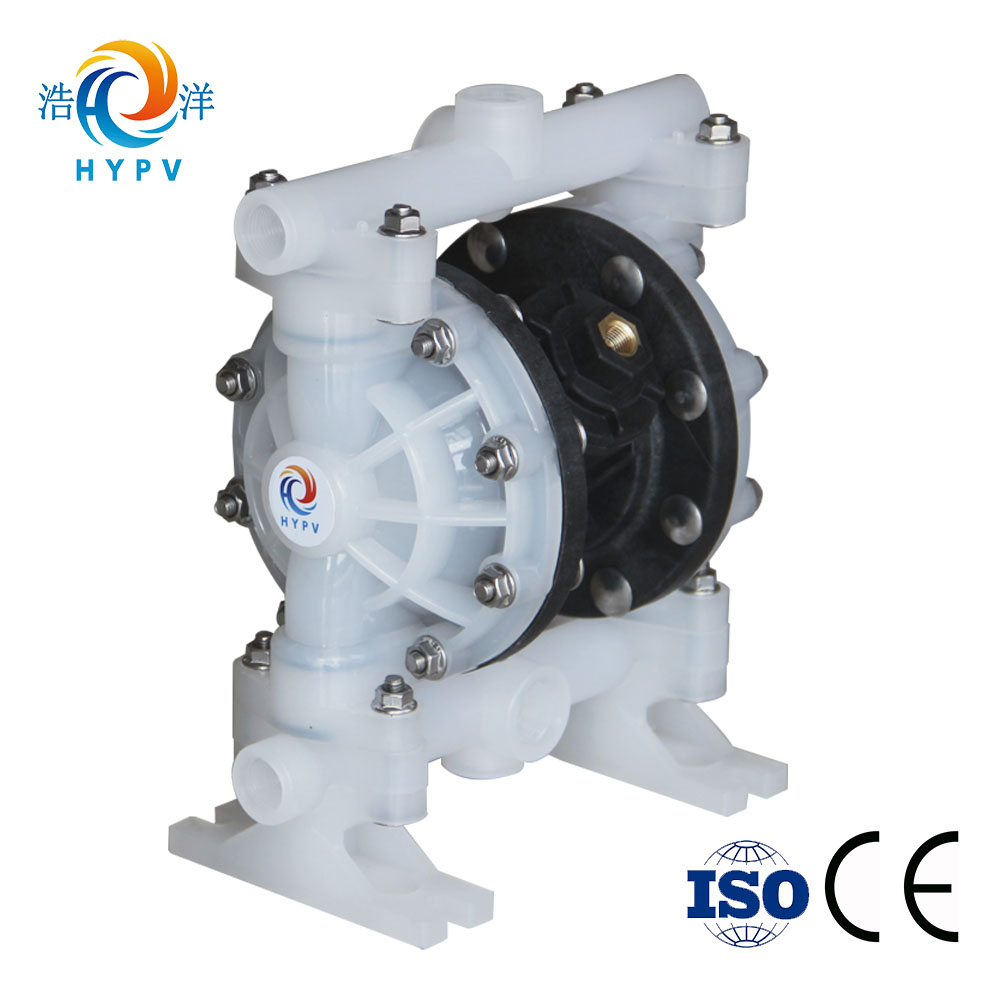 1/2 inch micro pneumatic double diaphragm pump ptfe diaphragm with polypropylene body