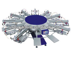 Multi Color Automatic Rotating T-Shirt Screen Printing Machine