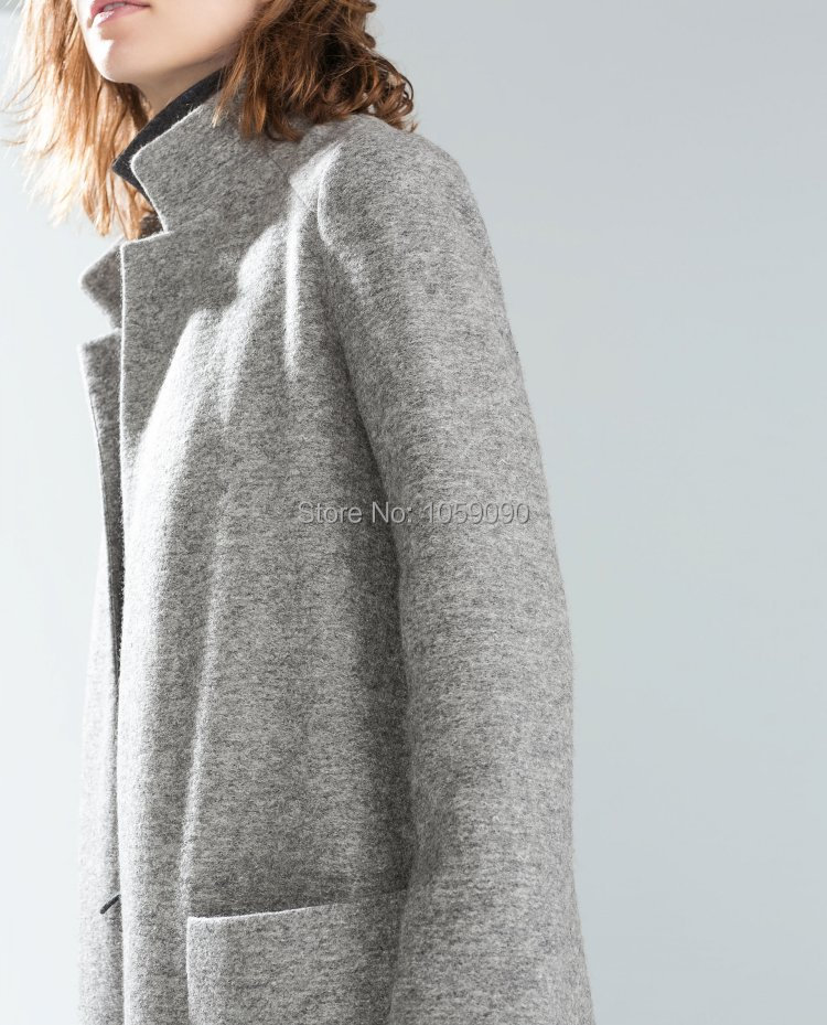Grey coats for women