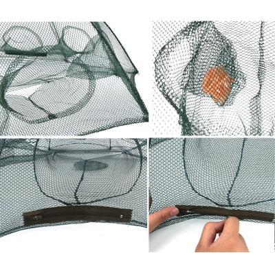 Fulljion Folded Portable 4-6-8 Hole Automatic Fishing Shrimp Trap Fishing Net